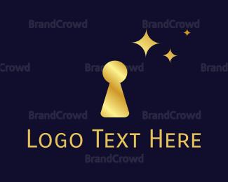 Fortune - Gold Keyhole logo design