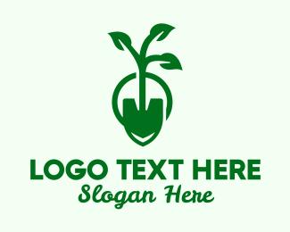 Dig - Gardening Spade logo design