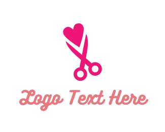 Cut - Snip Love logo design