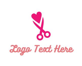 Cut - Snip Love logo design