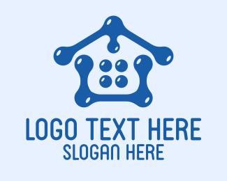 Bubble - Water Bubble House logo design