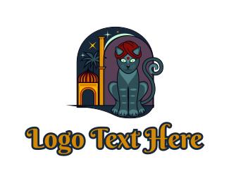 Aladdin - Exotic Cat logo design