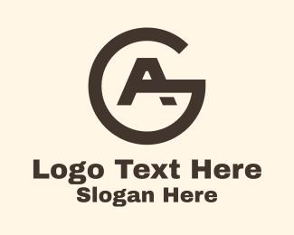 A - Minimalist Letter A & G logo design