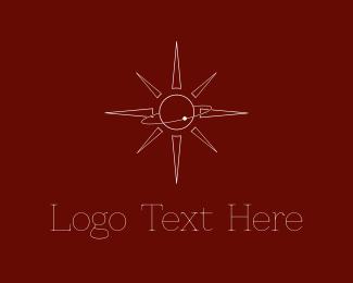 Comet - Sun Orbit logo design