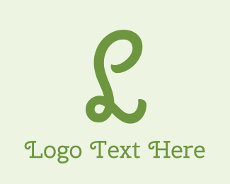 """""""Organic Curly Letter L"""" by BrandCrowd"""