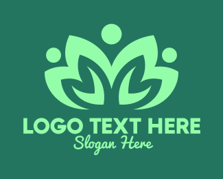 Veggie - Green Eco Community logo design