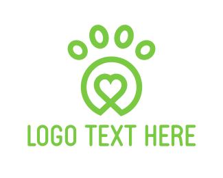 Vet - Lovely Green Paw logo design