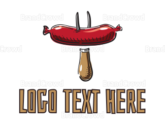 Barbeque - Sausage BBQ logo design
