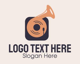 Player - Vintage Record Player logo design