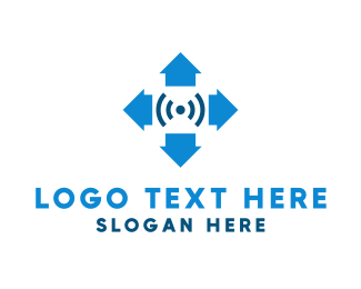 Internet Of Things - Arrow Signal logo design