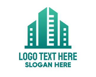 Landscape Architecture - Green City Building logo design