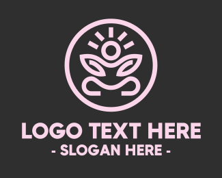 Enlightenment - Zen Yoga Pose logo design