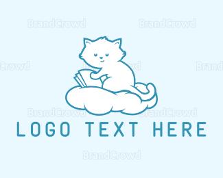 Nappy - Cloud Kitten logo design