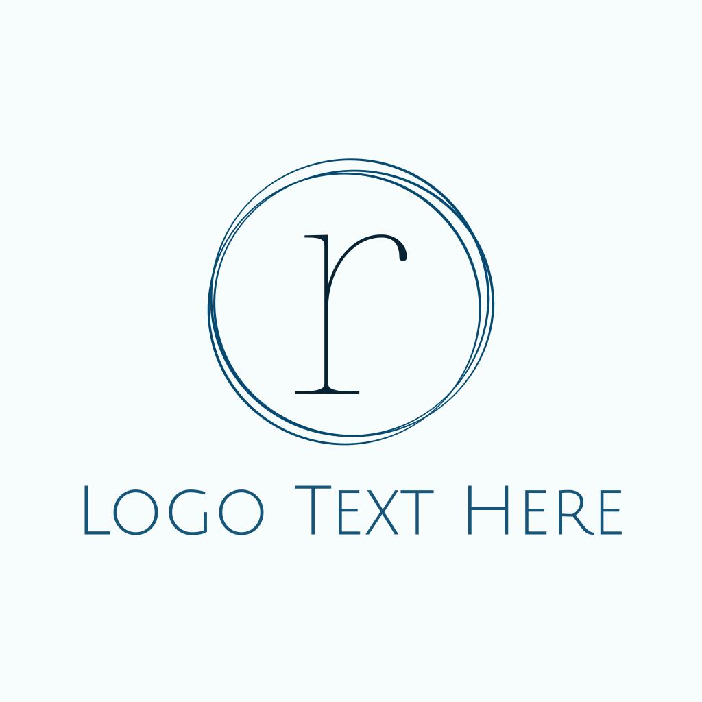 Minimalist Blue R Logo