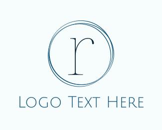 Couture - Minimalist Blue R logo design