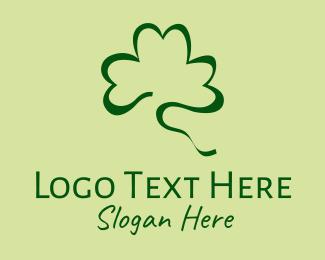 Lucky - Lucky Shamrock Scribble logo design
