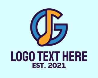 Music Producer - Music Letter G logo design