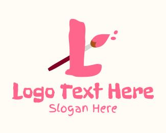 Create - Art Paintbrush Lettermark logo design