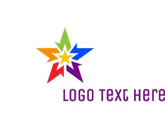 Pride - Abstract Rainbow Star logo design