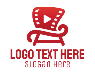 Stool - Movie Chair logo design
