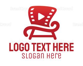 Watching - Movie Chair logo design