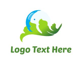 Pure - Water Bubble logo design