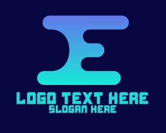 Lettering - Digital Letter E logo design