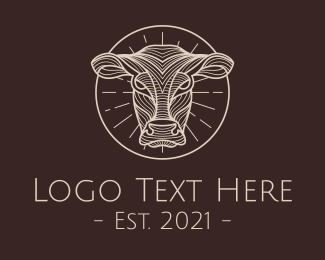 Meat - Brown Cow logo design