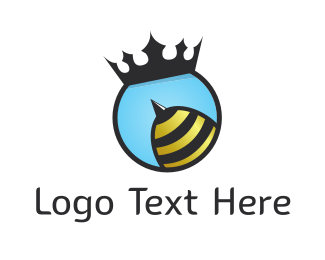 Black Insect - Queen Bee Sting logo design