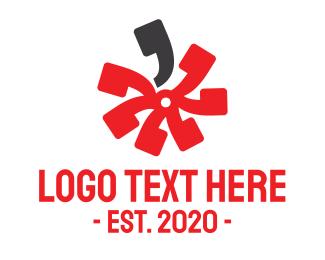 Quote - Floral Quote logo design