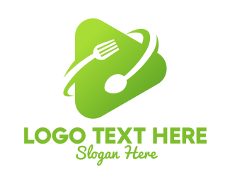 Food Vlogger - Food Media Player logo design