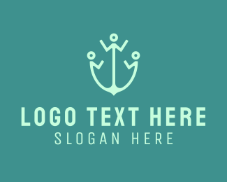 Human - Human Anchor logo design