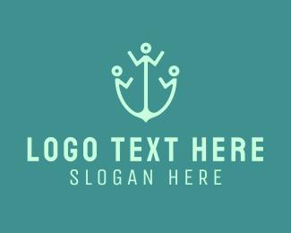 Human - Human Anchor logo design