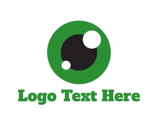 Green And White - Green Eye  logo design