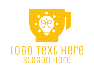 Coffee Cup - Energy Coffee Cup Cafe logo design