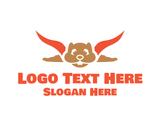 Fly - Flying Squirrel logo design