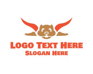 Recruiter - Flying Squirrel logo design