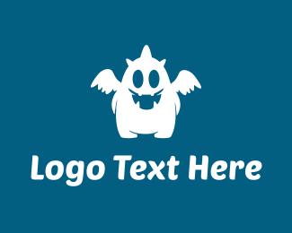 Horror - White Monster logo design