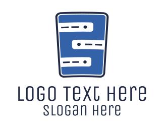Information Technology - Blue Web Server logo design