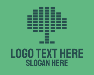 Ecofriendly - Pixel Tree logo design