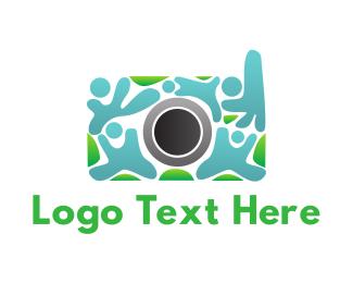 Human Camera Crowd Logo