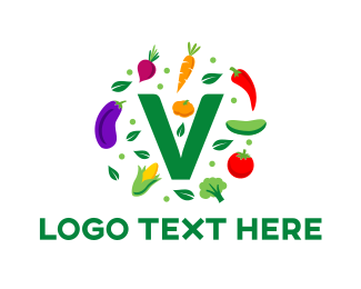 Tomato - Vegan Food logo design