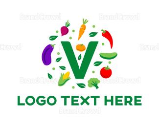 Farm To Table - Vegan Food logo design