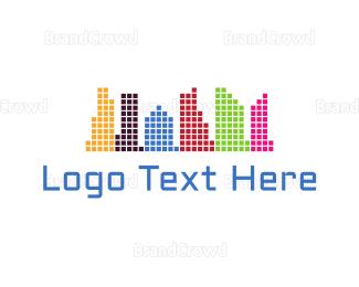 Downtown - Colorful City logo design