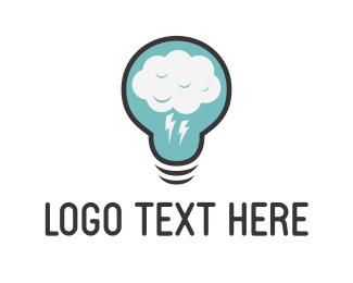 Illumination - Cloud Idea logo design