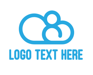 Number 8 - Cloud Number 8 logo design