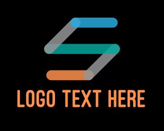 Technology - Multicolor Letter S Company logo design