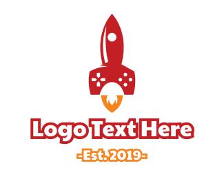 Astral - Gaming Rocket logo design