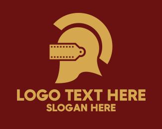 Gladiator - Warrior Helmet Film  logo design
