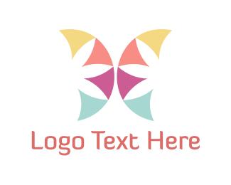 Childish - Floral Butterfly logo design